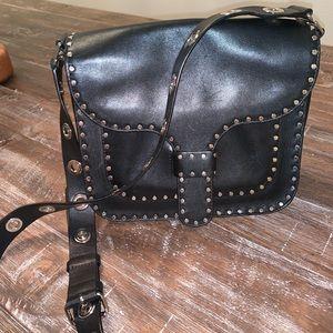 Rebecca Minkoff black studded leather bag
